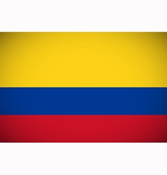 National flag of Colombia vector image
