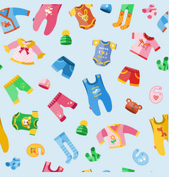 new baby boy and girl wear seamless pattern vector image