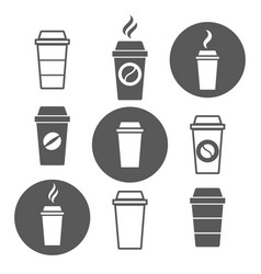 paper coffee cup icons vector image