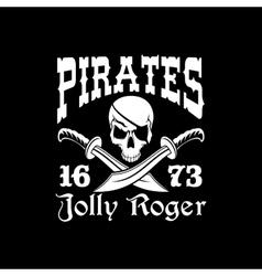 Pirates poster jolly roger symbol emblem vector