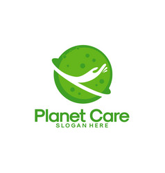 planet care logo designs health planet logo vector image