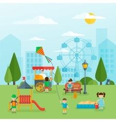 Playground Flat Concept vector