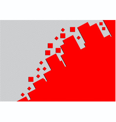 Red rectangle geometric abstract background with vector