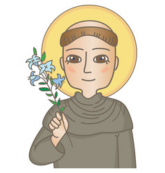 Saint anthony of padua vector