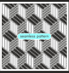seamless patterns with halftone dots 19 vector image
