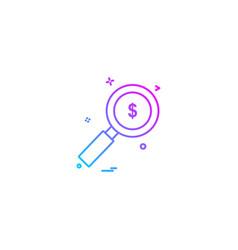 search dollar icon design vector image