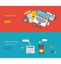 Set of flat design concept icons for web and vector image