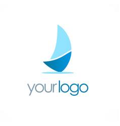 Ship sail logo vector