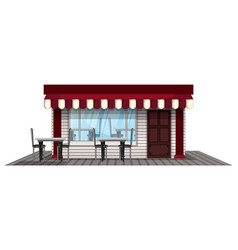 Shop design painted in red vector