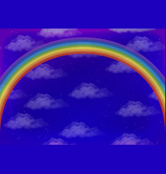 sky with rainbow vector image