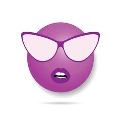 smiley violet vector image