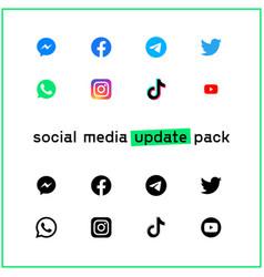Social media updated pack vector