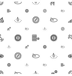 Solar icons pattern seamless white background vector