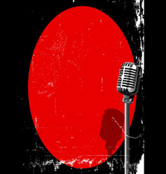 spotlight on a microphone vector image