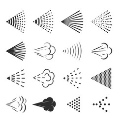 spray icon set small drops of liquid in the air vector image