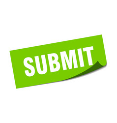 Submit sticker submit square sign submit peeler vector
