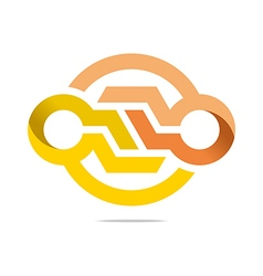 symbol hexa connecting icon element vector image