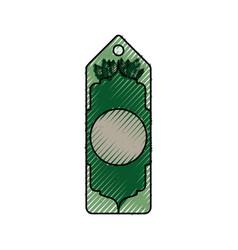 Tag eco green vector