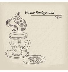 Teacup Vintage Background vector