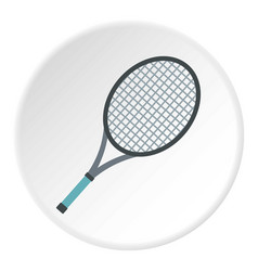 tennis racket icon circle vector image