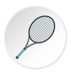 Tennis racket icon circle vector