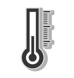 Thermometer temperature measurement vector image