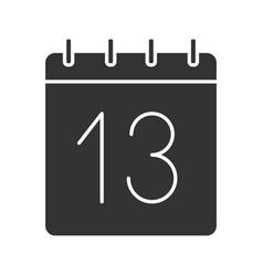 Thirteenth day month glyph icon vector