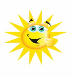 Thumbs up sun vector