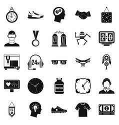 Ticker icons set simple style vector