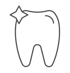 Tooth thin line icon dent vector
