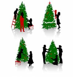 tree decoration vector image