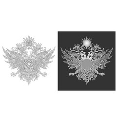 two-headed eagle symbol vector image