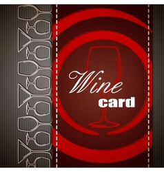 Wine card design vector