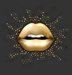 women lips in 3d realistic fashion style open vector image