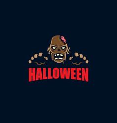 zombie halloween symbol vector image