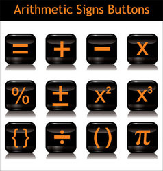 arithmetic signs buttons vector image