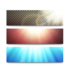 Banners set with transparent light effects vector