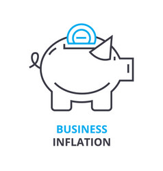 business inflation concept outline icon linear vector image