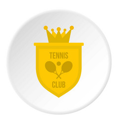 coat of arms of tennis club icon circle vector image