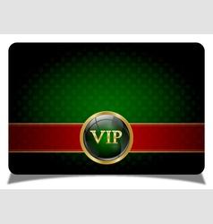 Green vip card vector image