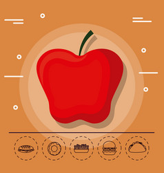 apple for family summer picnic vector image vector image