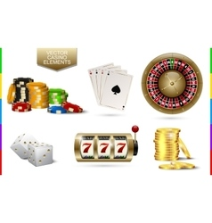 Casino golden icon isolated on white background vector image