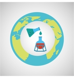 concept science lab experiment icon graphic vector image vector image