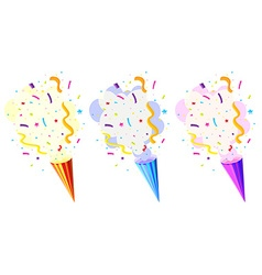 Pop up cone for party vector image