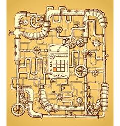 Print on steampunk vector