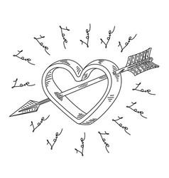 arrow of cupid vector image vector image