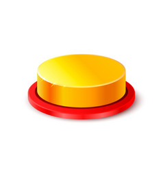 button gold 3d object on the white background vector image vector image