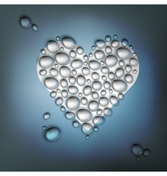 heart shaped water drops vector image vector image