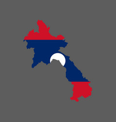 laos flag and map vector image vector image