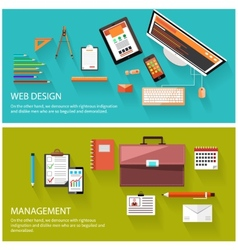 Management and web design concept vector image